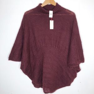 Moth oversized poncho style sweater